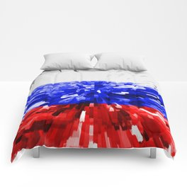 Extruded Flag of Russia Comforters