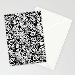Black And White Odd Shape Pattern Stationery Cards