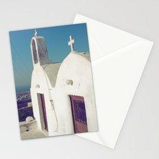 Santorini Churches II Stationery Cards