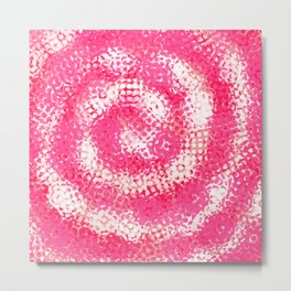 Spiral Swirl Abstract Art Pink and White / GFTswirl001 Metal Print
