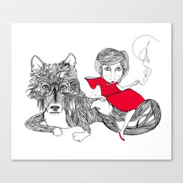 Little Red Riding Hood Canvas Print