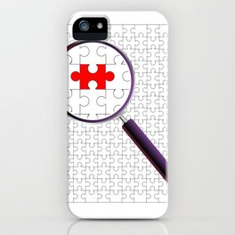 Odd Piece Magnifying Glass iPhone Case