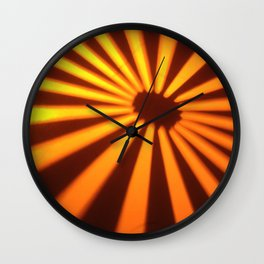 Orange Lines at the ground Wall Clock