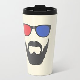 3D beard Travel Mug