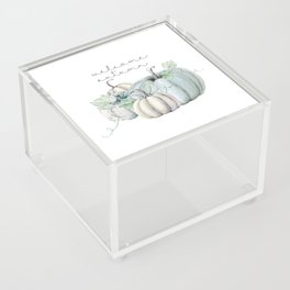 welcome autumn blue pumpkin Acrylic Box