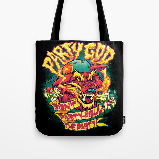 PARTY GOD (red) Tote Bag