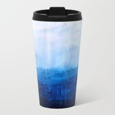 All good things are wild and free - Ocean Ombre Painting Metal Travel Mug
