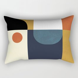 mid century abstract shapes fall winter 4 Rectangular Pillow