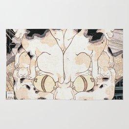 Utagawa Kuniyoshi - Cats' Fifty Three Stations Of Tokaido Rug