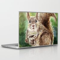 squirrel Laptop & iPad Skins featuring Squirrel by Anna Shell