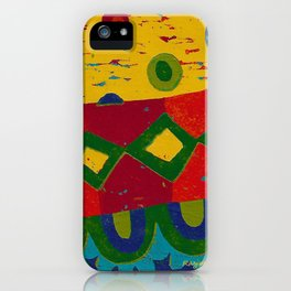 Reduction in colour iPhone Case