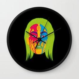Two Tone Tribal Girl Wall Clock