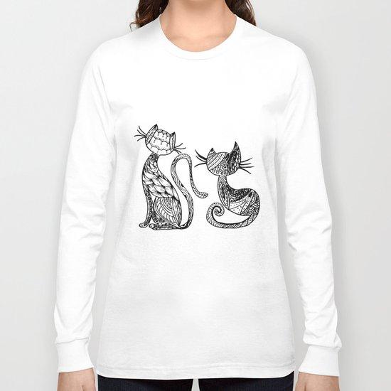 Mandala Cats Long Sleeve T-shirt