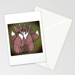 Two Foxes Stationery Cards