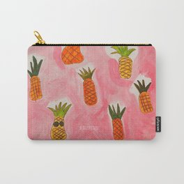 Pineapple Head, Abstract Watercolor Painting, Acrylic Carry-All Pouch