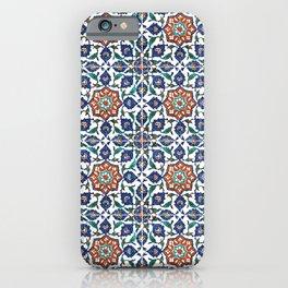 Iznik Tile Pattern Red Blue White iPhone Case
