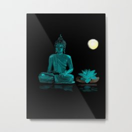 90 - Buddha in magical Color & reflection Metal Print
