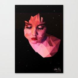 Low-poly portrait Canvas Print
