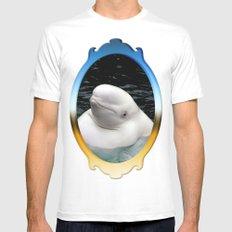 Beluga Whale MEDIUM Mens Fitted Tee White