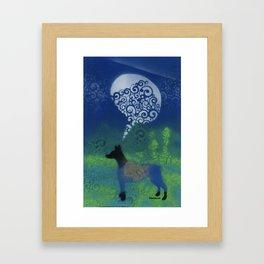 Dog Speaks Framed Art Print