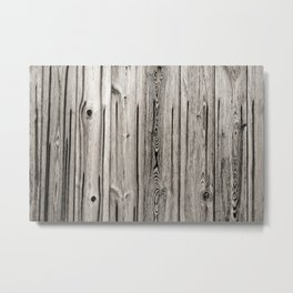 Black white and grey  wooden floor Metal Print