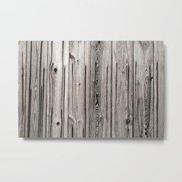 Black white and grey  wooden floor Metal Print
