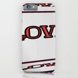 Love - Typography Lettering Art Design iPhone Case