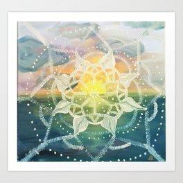 universes sunset Art Print