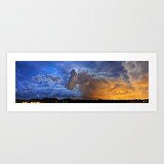 90 Degrees of Monsoon Mashup Art Print