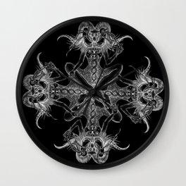 Baphomet Lunar Arachnid Wall Clock