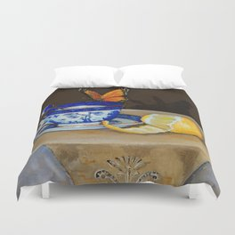 Teacup with Butterfly Duvet Cover