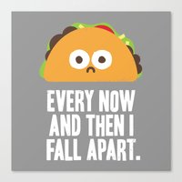 taco Canvas Prints featuring Taco Eclipse of the Heart by David Olenick