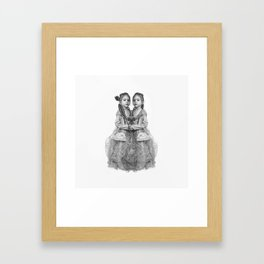 Sisters Twins Framed Art Print