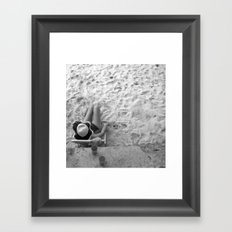 Lady on the Beach Framed Art Print