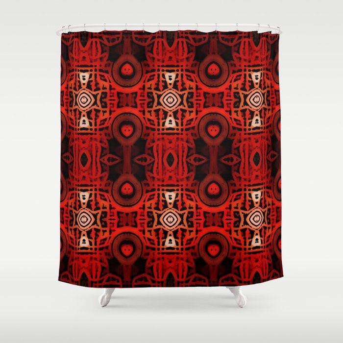 Tribal Batik Shower Curtain