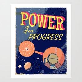 Power For Progress 1955 atomic power print. Art Print