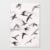 flight Canvas Prints featuring Flight by Georgiana Paraschiv
