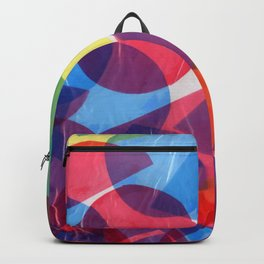 Beautiful Colorful Art Collage Backpack