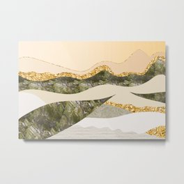 GRAPHIC ART Layers of soil and rock Metal Print