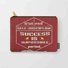 Success is impossible Lou Holtz Sports Player Carry-All Pouch