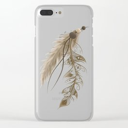 Bohemian Feather Clear iPhone Case