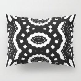 BLACK AND WHITE TIKI FLOWER ABSTRACT ARTWORK  Pillow Sham
