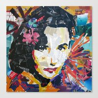 jenny liz rome Canvas Prints featuring Liz by Phil Fung