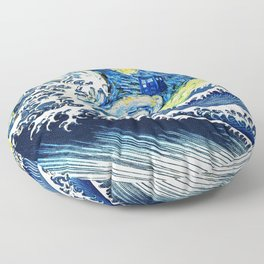 Tardis Flying Wave Night Floor Pillow