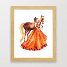 horse lover Framed Art Print