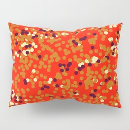 dots on red Pillow Sham