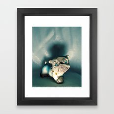 Demon Bulldog With Plastic Gemstone Eyes Framed Art Print