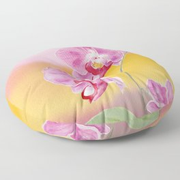 Colorful Orchid  Floor Pillow