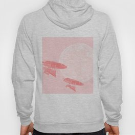 Around the Moon Pink and Pastel Textured Version 3 Hoody