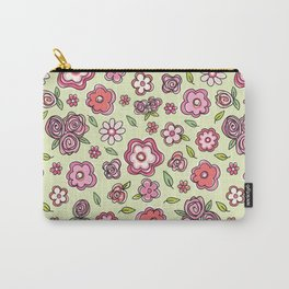 Whimsical Spring Flowers Carry-All Pouch